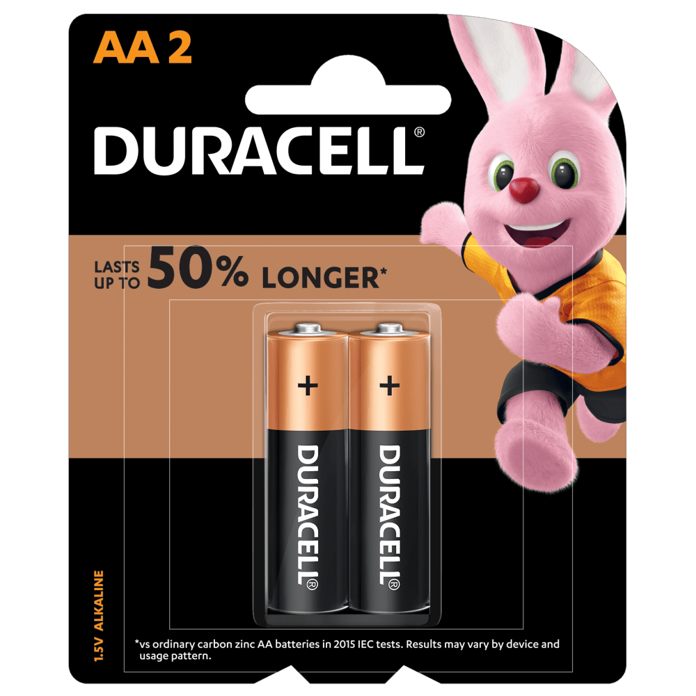 Duracell Alkaline Simply AA-size batteries in 2-piece pack