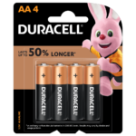 Duracell Alkaline Simply AA-size batteries in 4-piece pack