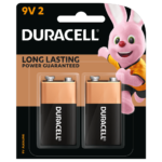 Duracell Alkaline Plus Type 9V batteries in 2-piece pack