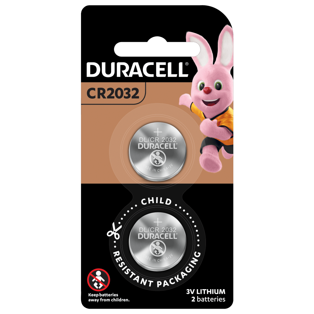 Duracell Lithium Coin 2032 Batteries in 2 piece pack