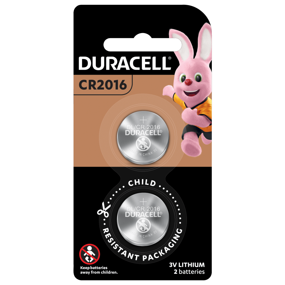 Specialty Lithium Coin 2016 Batteries in 2 piece pack