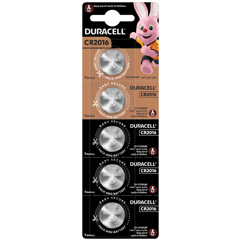 Specialty Lithium Coin 2016 Batteries in 5 piece pack