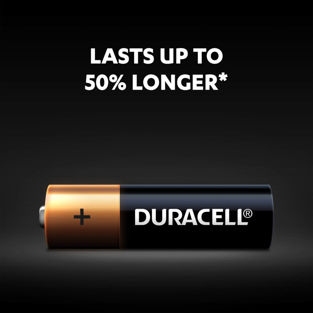 Lasts up to 50% longer
