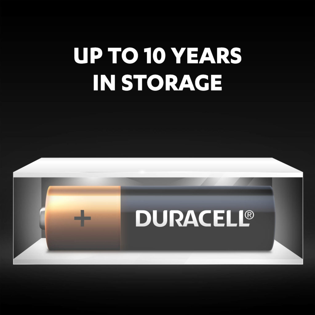 Duralock technology keeps unused Duracell batteries