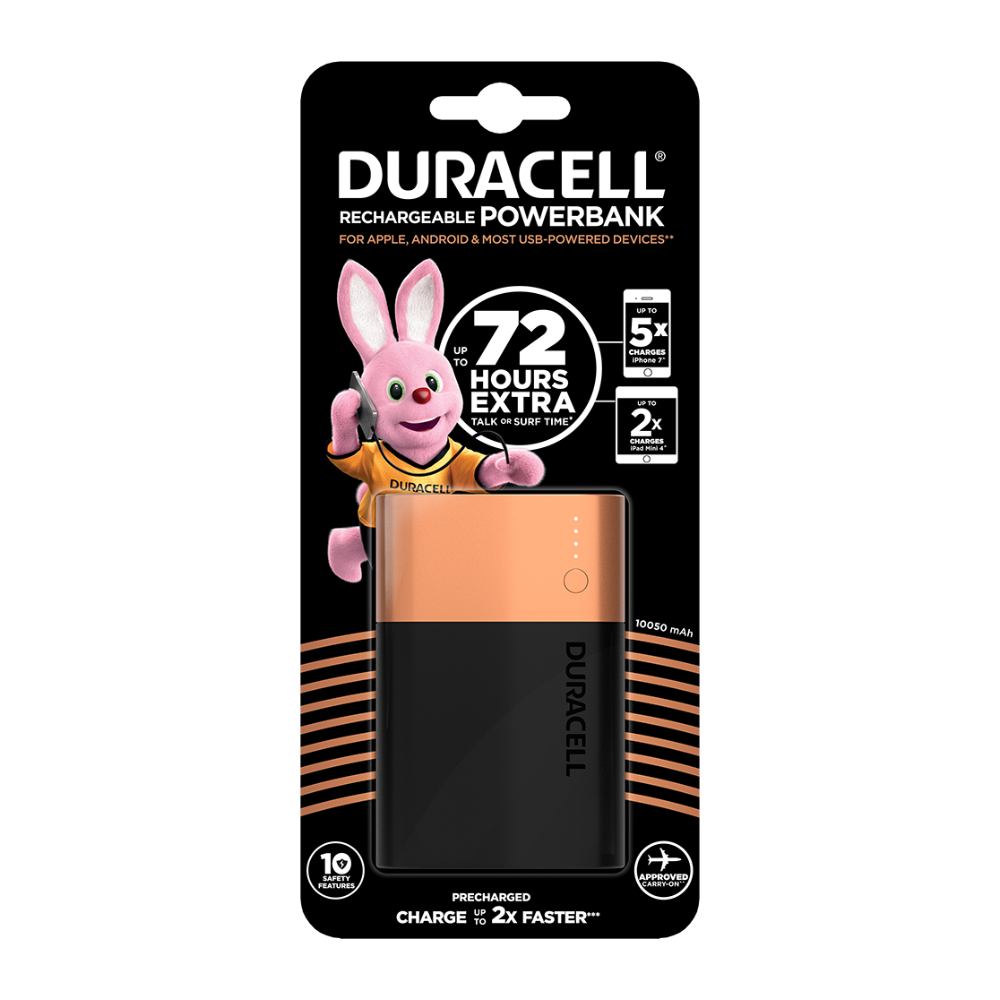 Duracell Rechargeable Powerbank 10050 mAh
